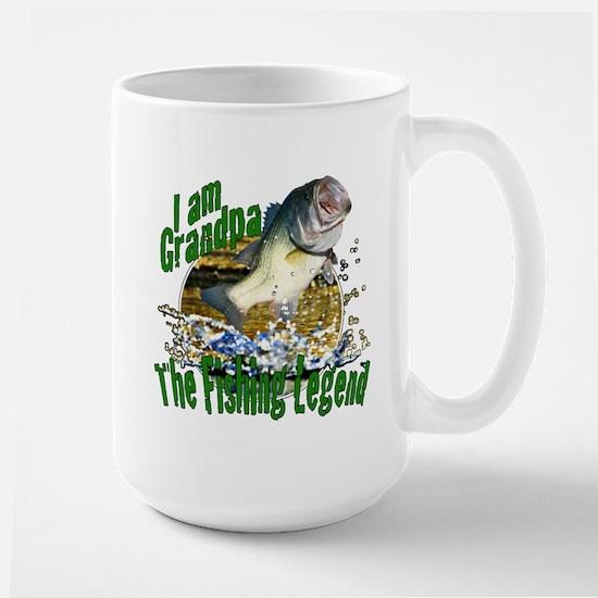 Grandpa the Bass fishing legend Large Mug