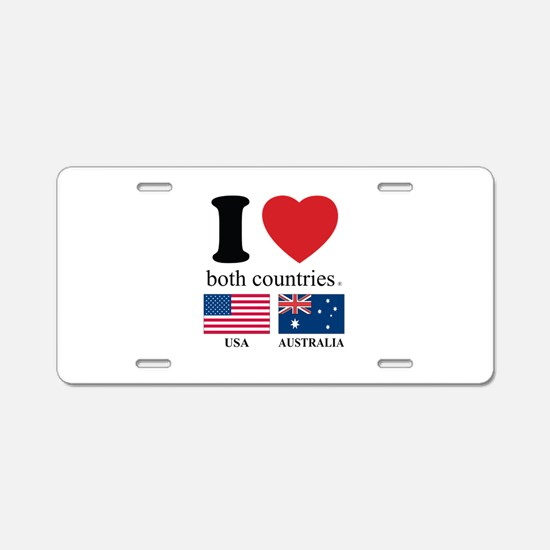 USA-AUSTRALIA Aluminum License Plate