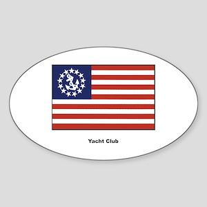 Yacht Club Flag Oval Sticker