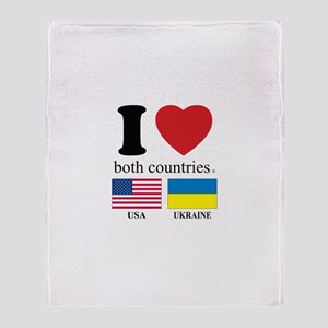 USA-UKRAINE Throw Blanket