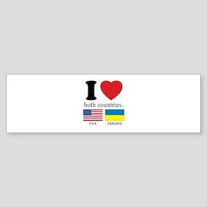 USA-UKRAINE Sticker (Bumper)