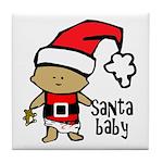 Santa Baby by Vampire Dog Tile Coaster