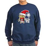 Santa Baby by Vampire Dog Sweatshirt (dark)