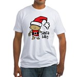 Santa Baby by Vampire Dog Fitted T-Shirt