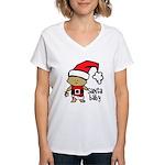 Santa Baby by Vampire Dog Women's V-Neck T-Shirt