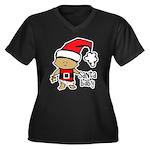 Santa Baby by Vampire Dog Women's Plus Size V-Neck