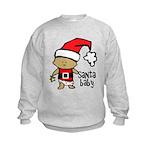 Santa Baby by Vampire Dog Kids Sweatshirt