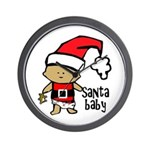 Santa Baby by Vampire Dog Wall Clock