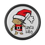 Santa Baby by Vampire Dog Large Wall Clock