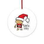 Santa Baby by Vampire Dog Ornament (Round)