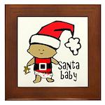 Santa Baby by Vampire Dog Framed Tile