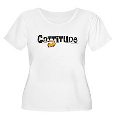 Cattitude Tail Women's Plus Size Scoop Neck T-Shir