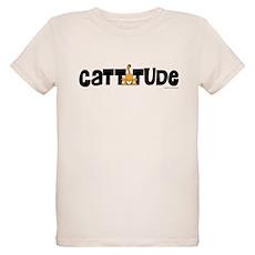 Cattitude Mooning Organic Kids T-Shirt