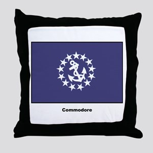 Commodore Flag Throw Pillow