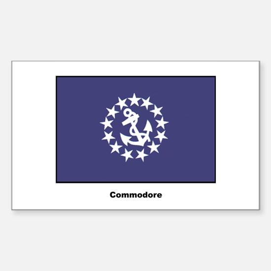 Commodore Flag Rectangle Decal