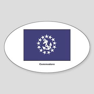 Commodore Flag Oval Sticker