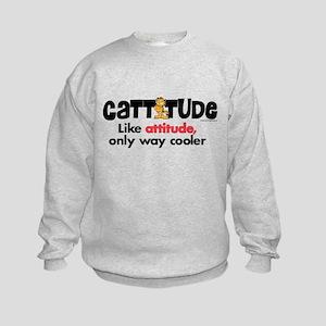 Cattitude Attitude Kids Sweatshirt