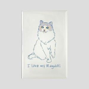 I Love My Ragdoll Rectangle Magnet