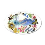 Nature Watercolor 22x14 Oval Wall Peel
