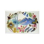 Nature Watercolor Rectangle Magnet