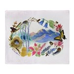 Nature Watercolor Throw Blanket