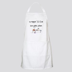 Scrappin' til the sun goes do BBQ Apron