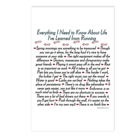 Running Life Lessons - 26.2 Postcards (Package of