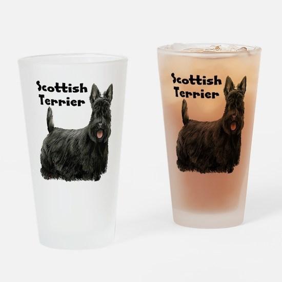 Scottish Terrier Drinking Glass