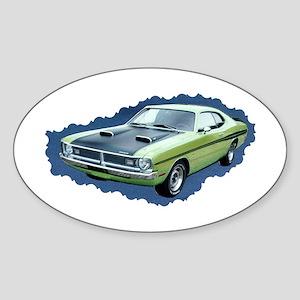 Clasic Cool Car Oval Sticker