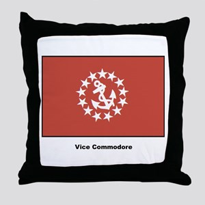 Vice Commodore Flag Throw Pillow