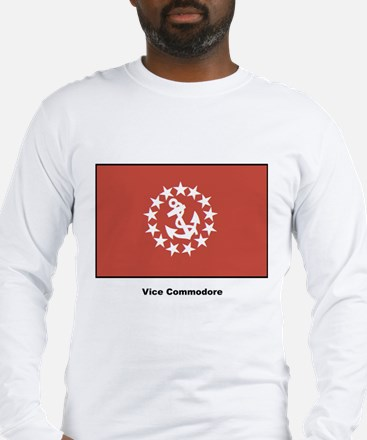 Vice Commodore Flag (Front) Long Sleeve T-Shirt