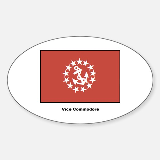 Vice Commodore Flag Oval Decal