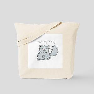Love My Kitty (gray) Tote Bag