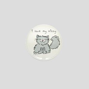 Love My Kitty (gray) Mini Button