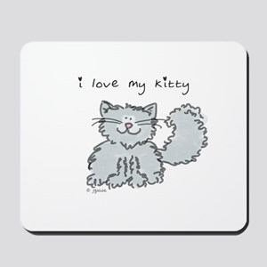 Love My Kitty (gray) Mousepad