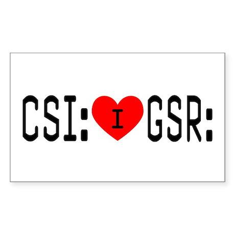 I LOVE CSI & GSR Rectangle Sticker
