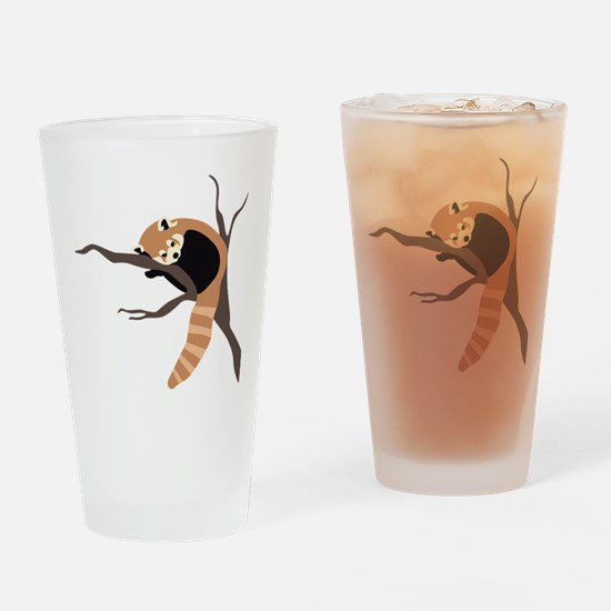 Sleepy Red Panda Drinking Glass
