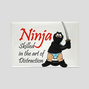 Ninja Distraction Rectangle Magnet