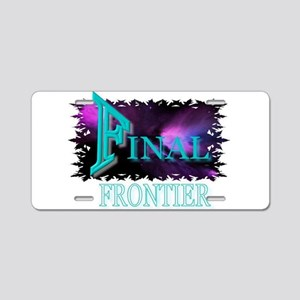 final frontier Aluminum License Plate