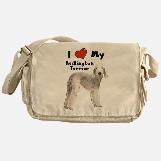 Cute Bedlington terrier Messenger Bag