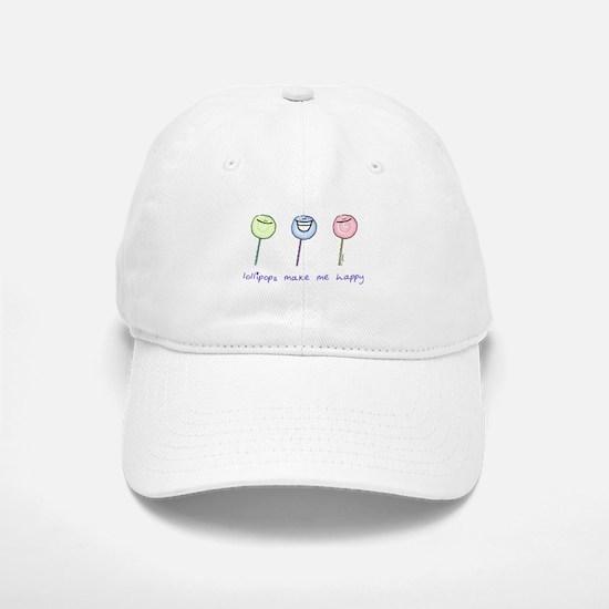 Lollipops Make Me Happy Baseball Baseball Cap
