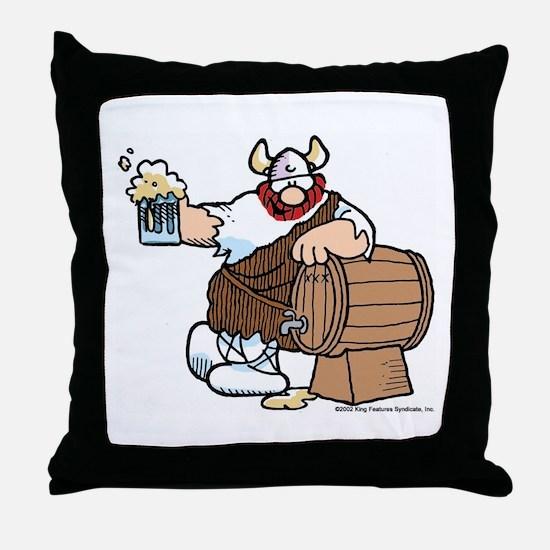 Hagar and Keg Throw Pillow