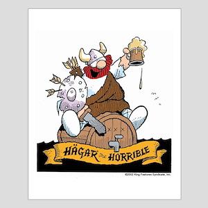 Hagar on Keg Small Poster