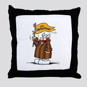 Go Barbarians! Throw Pillow