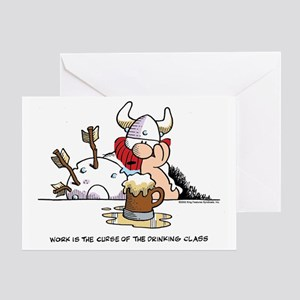 Drinking Class Greeting Cards