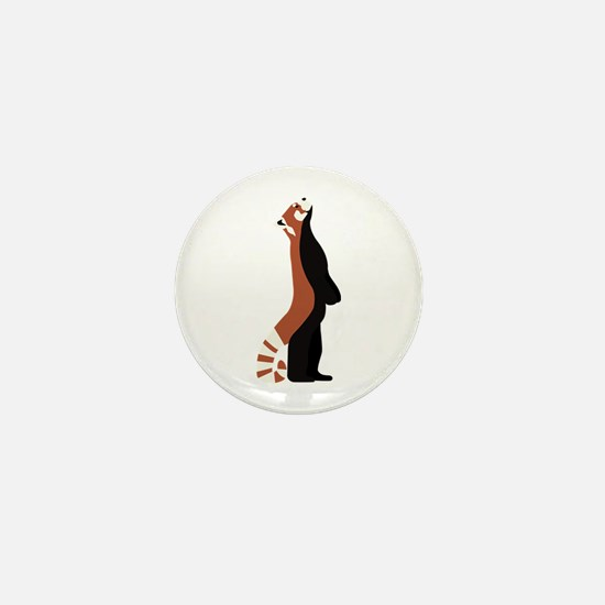 Standing Red Panda Mini Button
