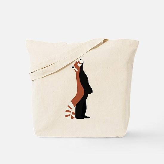 Standing Red Panda Tote Bag