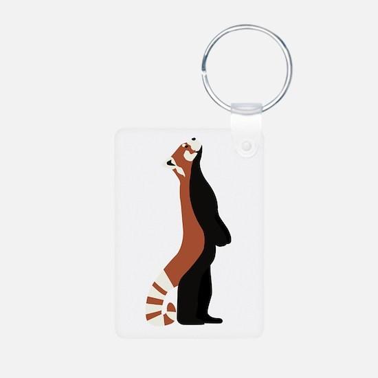 Standing Red Panda Keychains
