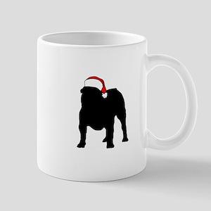 Bulldog Christmas Hat Mug