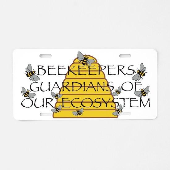 Beekeepers Aluminum License Plate